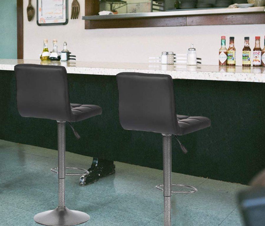 Height Adjustable Swivel Bar Stools