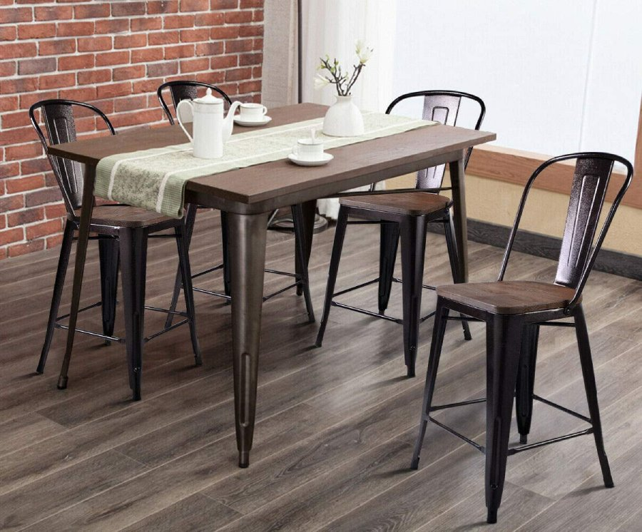 Kitchen Dining Bar Chairs Rustic