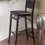 Linon Home Decor Keira Pad Back Folding Counter Stool, 24-Inch